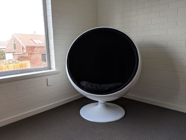 Ball chair, great to sit in and read a book