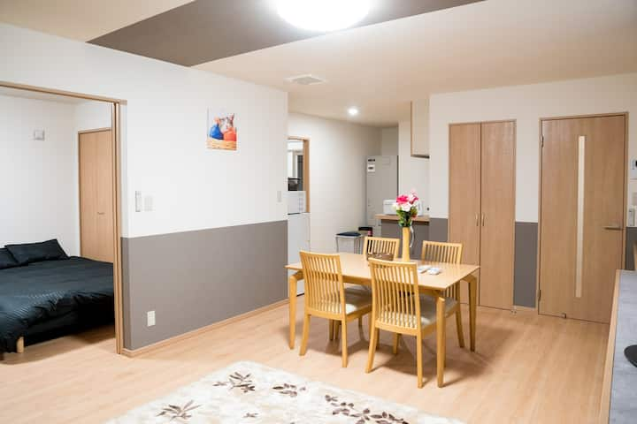 stay in Biei 201 Furano Good location cozy apt w/p