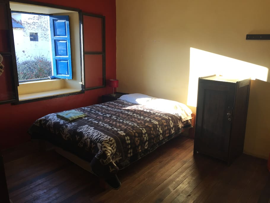 Bedroom 2  with view of the Plazoleta