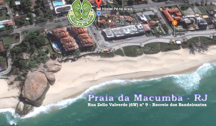 Quarto /temporada, na rua da  praia -  Recreio- RJ