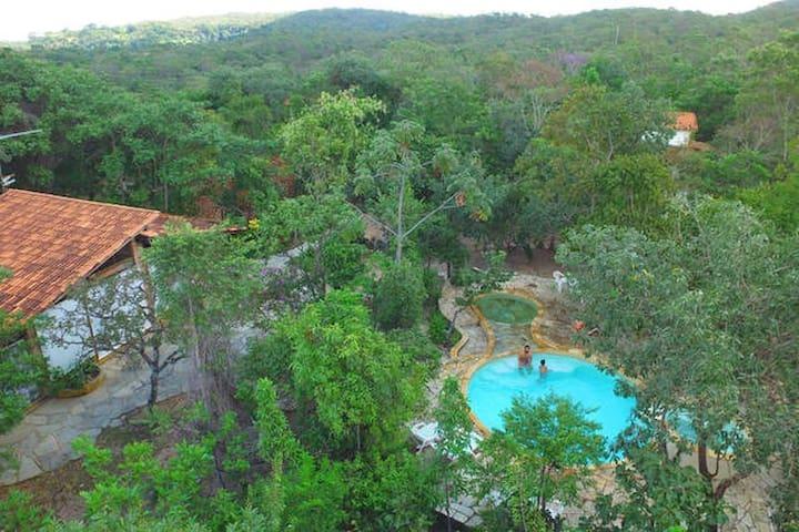 Chalé Pequi na Reserva Ecológica Caraívas
