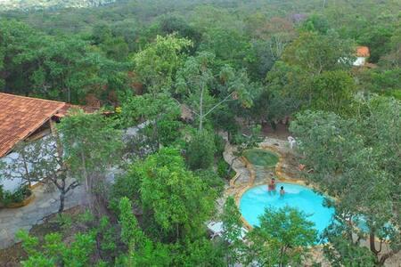 Chalé Pequi - Reserva Ecológica Caraívas - Pirenópolis - 独立屋