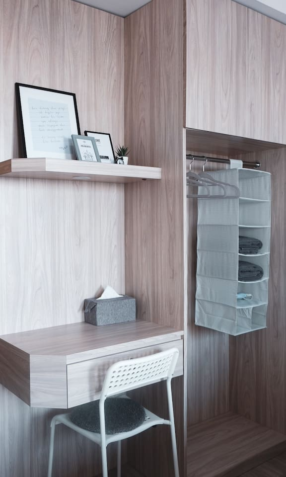 Workspace with drawer