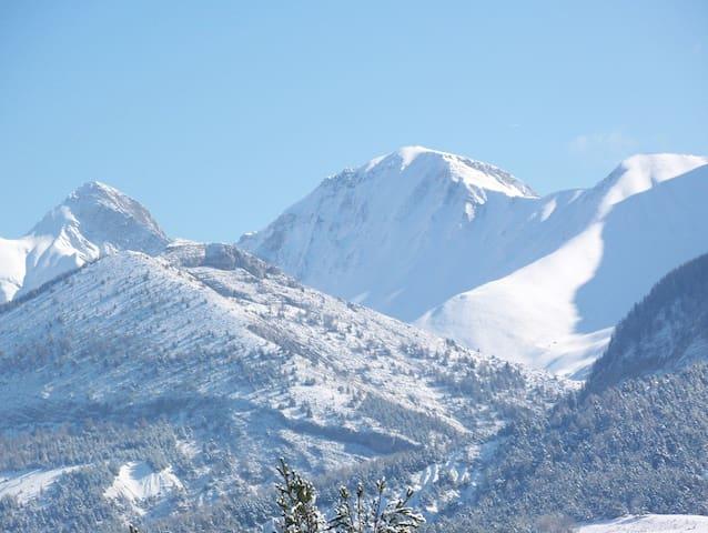 Le VERNET, T2 au calme, terrasse vue montagne - Seyne - Apartment