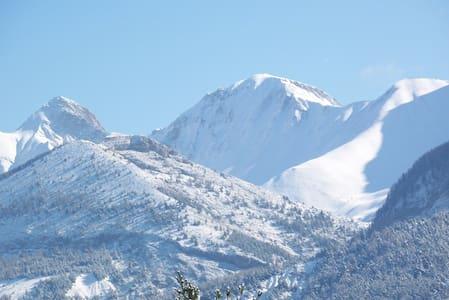 Le VERNET, T2 au calme, terrasse vue montagne - Seyne