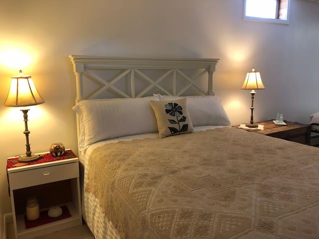 New queen bed- sleep in comfort!
