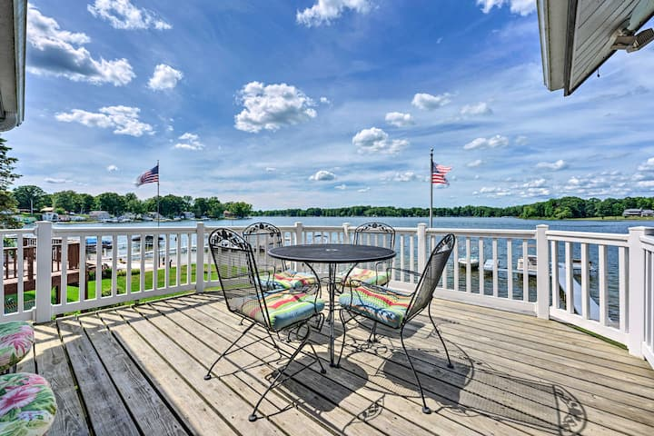 NEW! Lakehouse w/ View, Dock, Sunroom + 2 Decks!