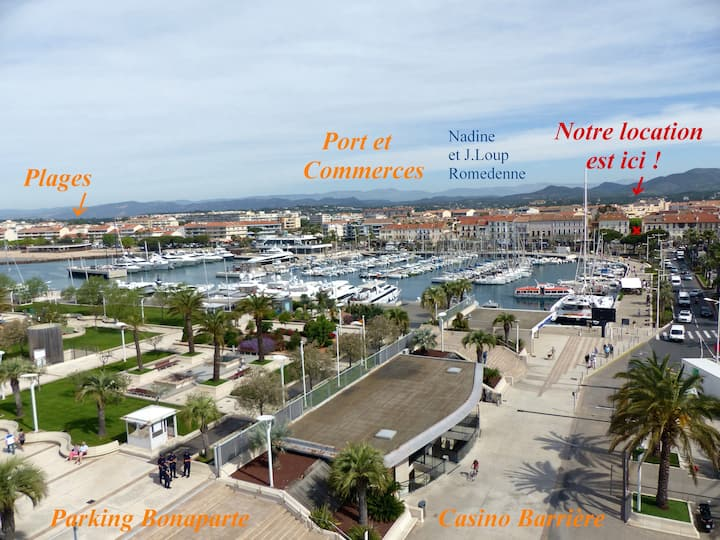 Saint Raphaël appart. 2 pièces tt confort bord mer