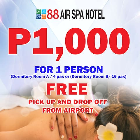 Air Spa Hotel (shared room) + Free Shuttle Service