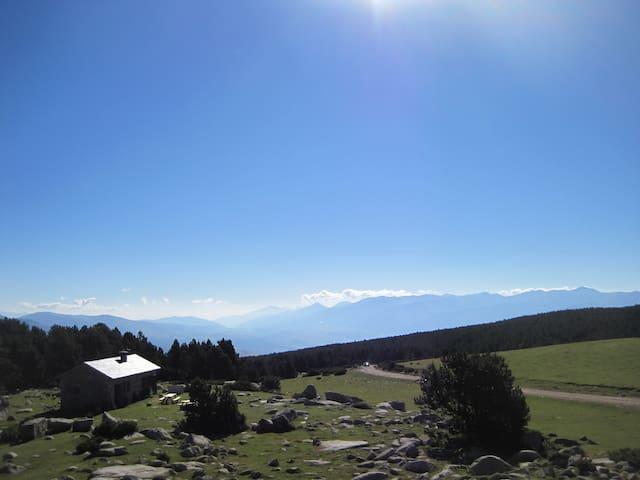 Refugio de la Feixa, situado en Cerdaña