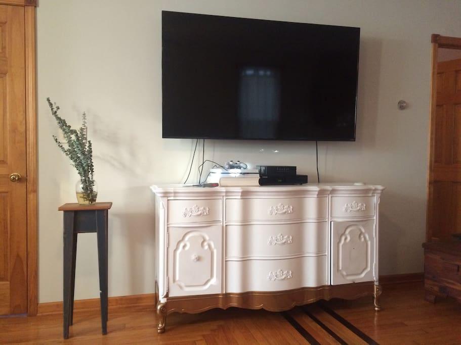 Huge Smart TV.