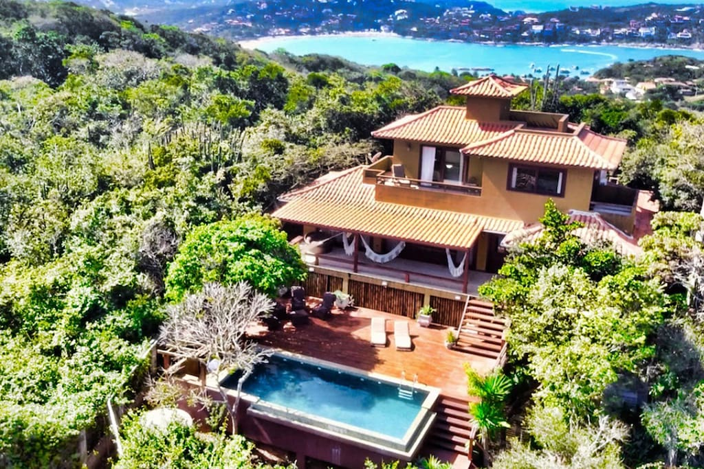 View from the top.  The house is surrounded  by State Park Costa do Sol and beaches