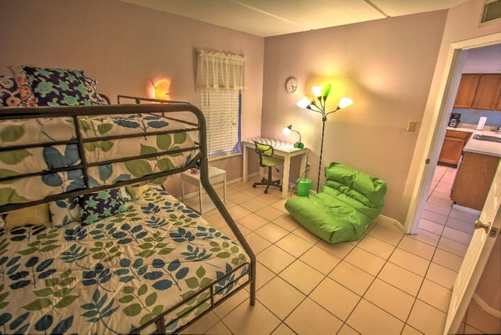 2nd bedroom features double bed and twin top bunk!