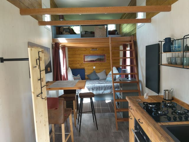 Tinyhäuser im Mirabellengarten - alle drei Häuser