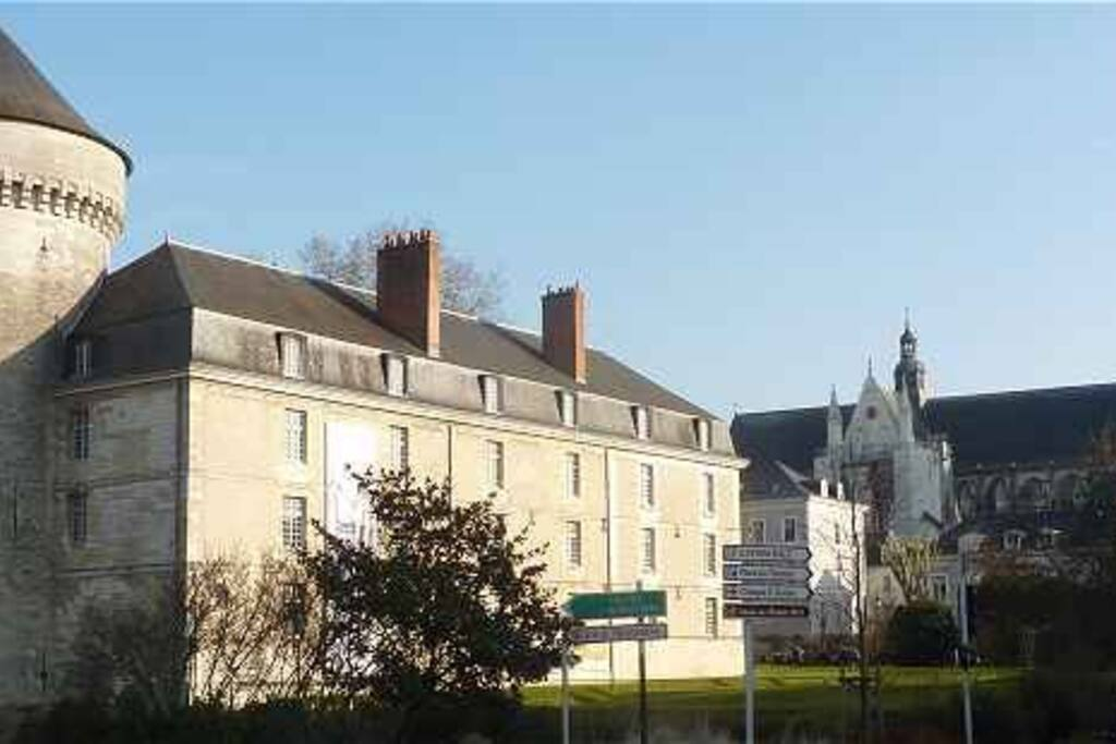 L'appartement est situé à côté du château et de la Loire.