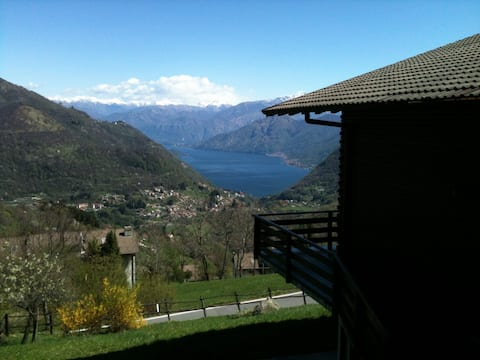 Chalet on the hill with lake view
