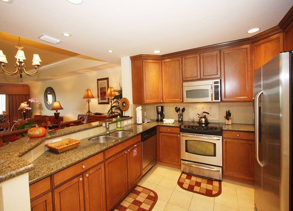 Cook as much or as little as you want in this full-equipped kitchen.