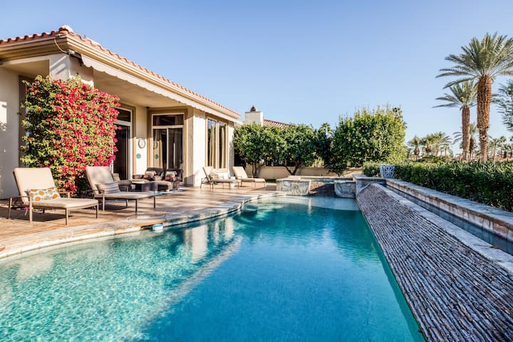 Luxurious PGA West home w/ golf course views and private pool/spa - Dogs ok!