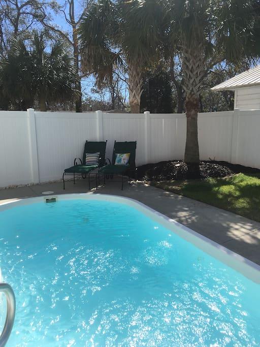 Fenced in yard. Pool access