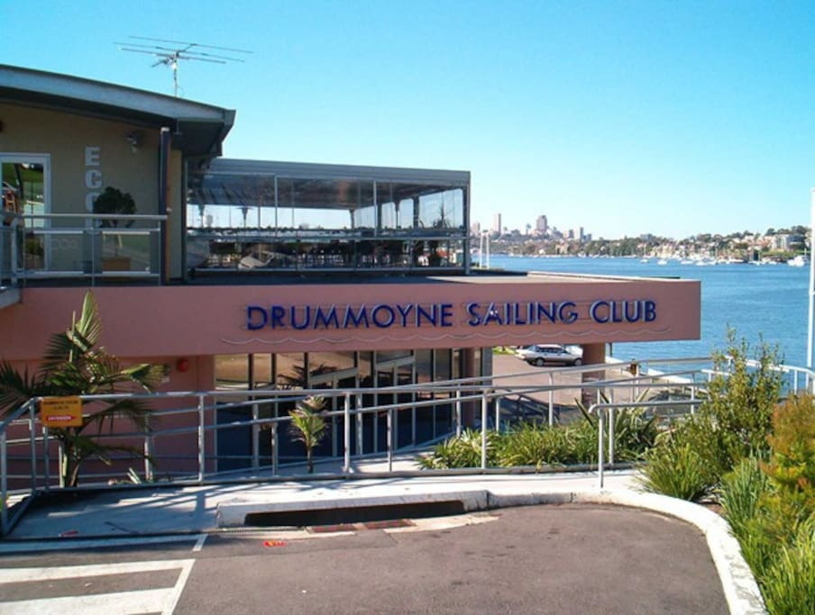 Drummoyne Sailing Club - great for dinner and drinks on the balcony.