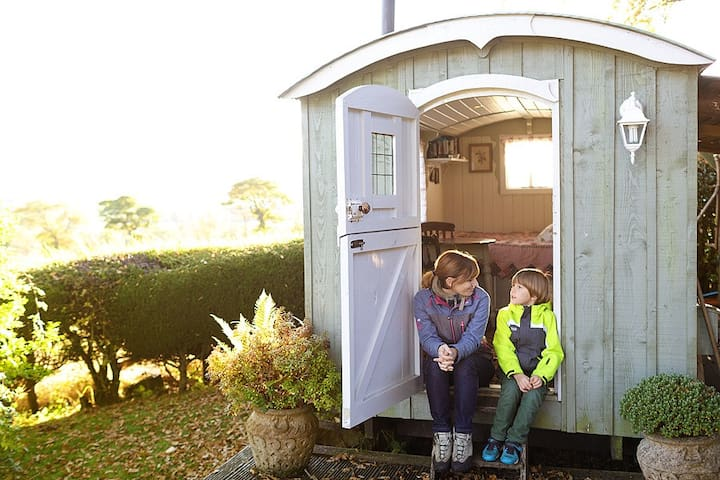 Shepherds hut hideaway Scotland