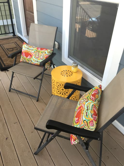 Front porch sitting area.