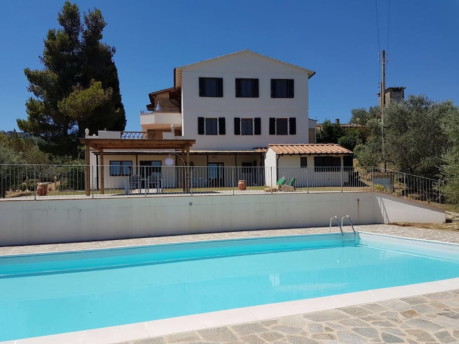 A view of the Villa from the Swimming Pool