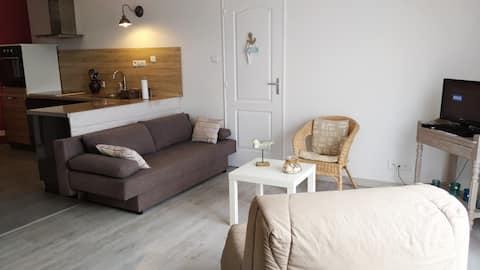 maison 2 chambres, 50m de la plage, Normandie.
