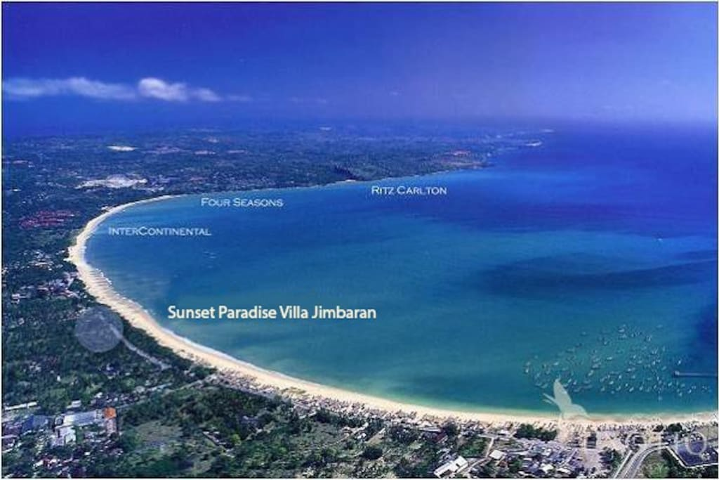 Strategically located along the famous Jimbaran Beach