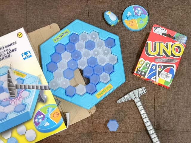 Games to entertain guests. Have fun with these with your family or friends. Just make sure to take care of these and don't loose items.