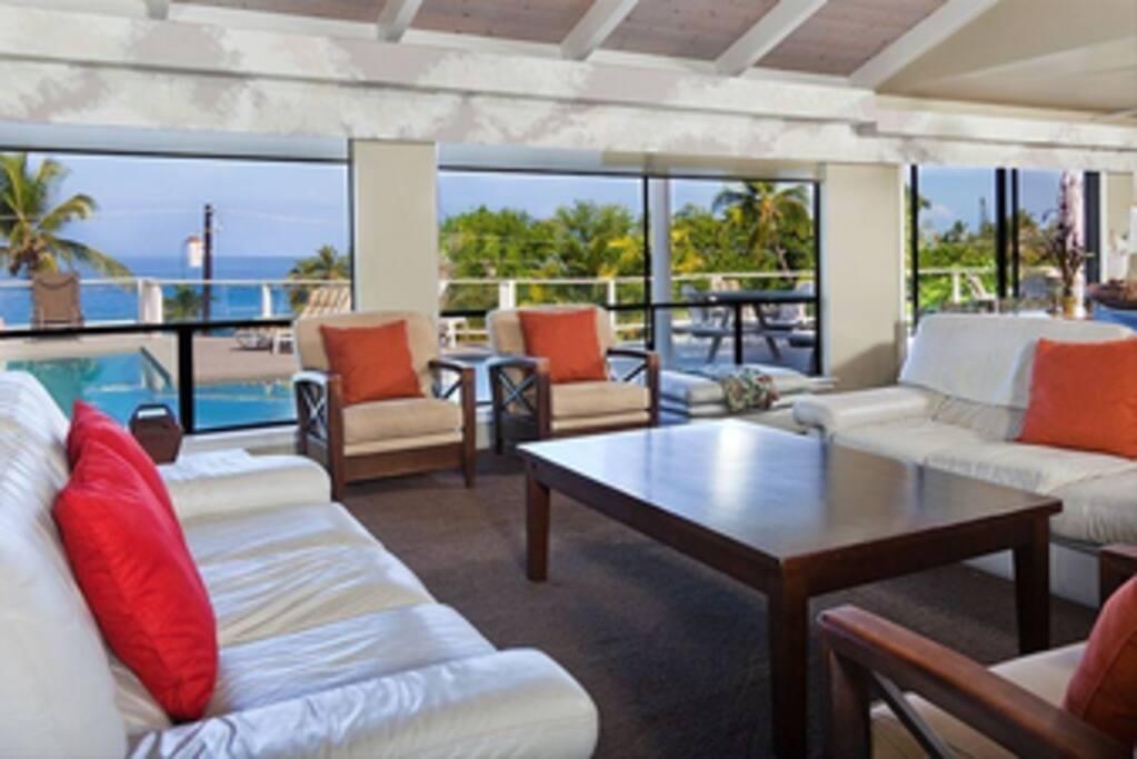 Open floor plan with ocean views!