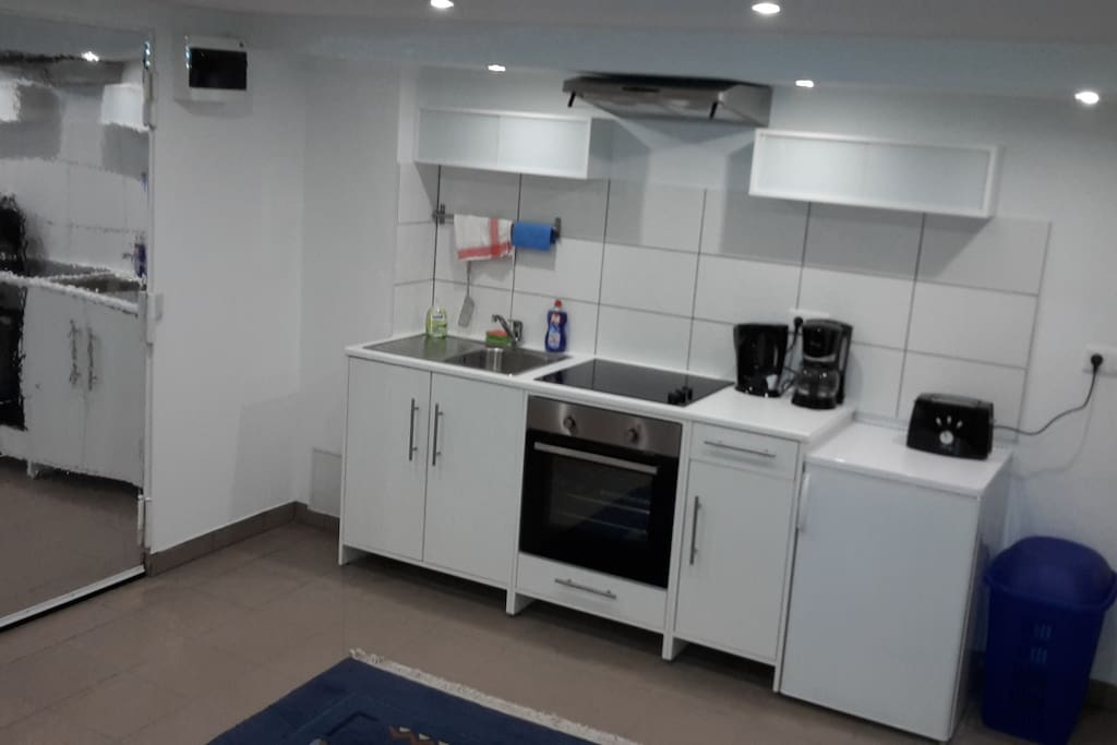 The kitchen in the private room