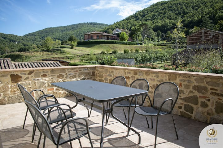 Villa della Valle, between the green hills of Umbria and Tuscany