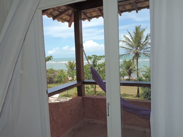 Quarto frente ao mar em casa em Arraial d'Ajuda