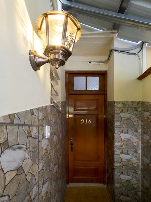 This is the private entrance to your room. Our neighbourhood is very safe and the family lives full time right on site. Do not hesitate to ask for anything at any time!
