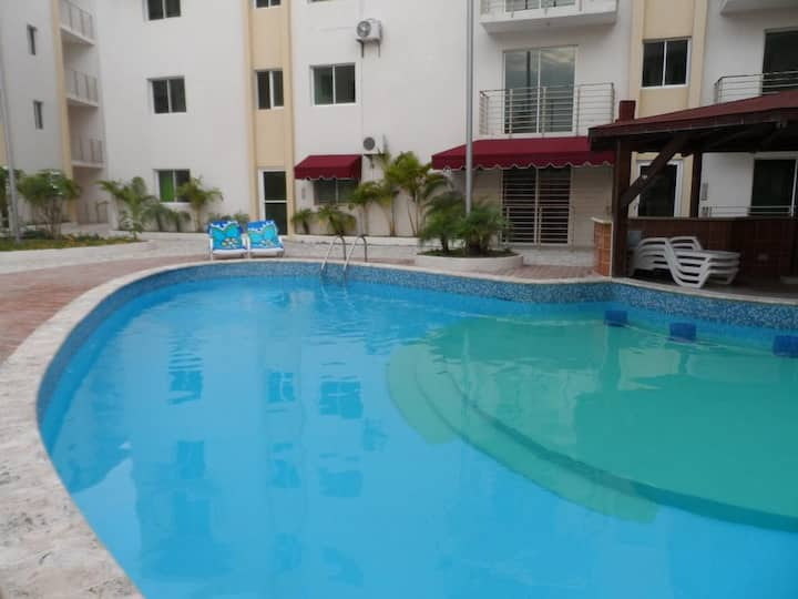 Apartment in Boca Chica, pool, beach,  Excellent