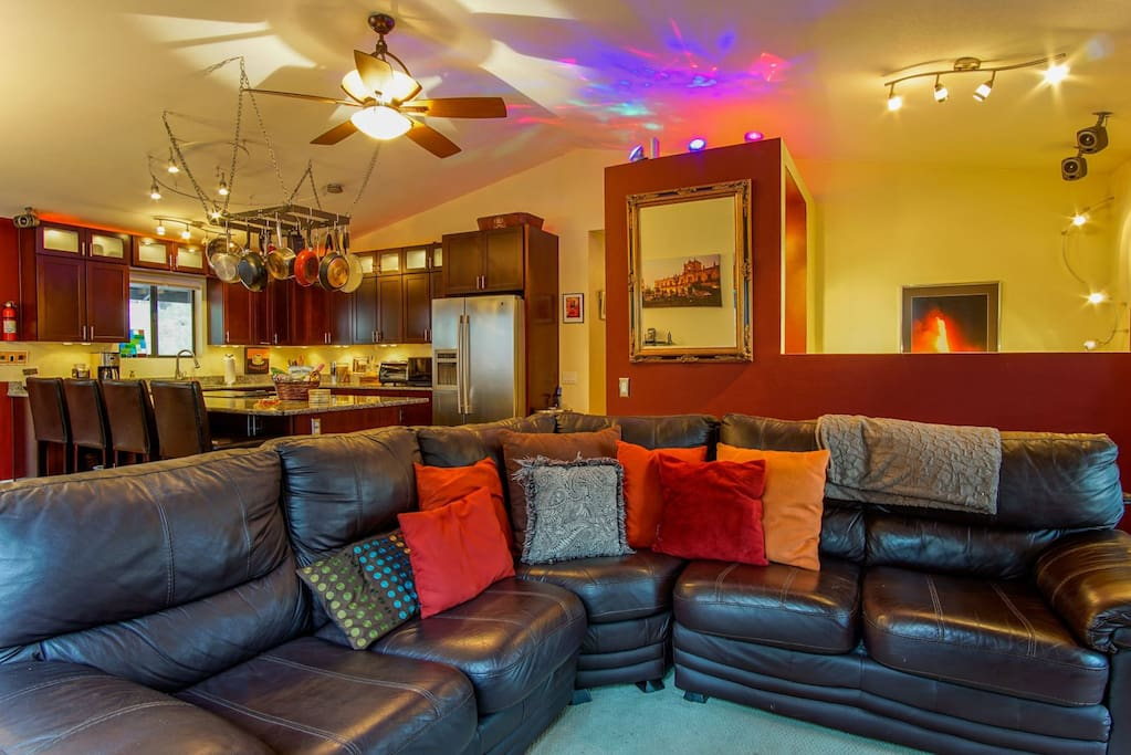 Upper Level Family Room & Kitchen Areas