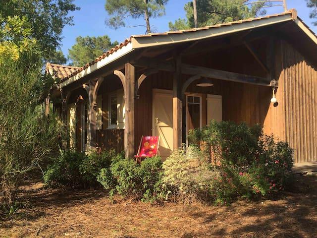 Mignonne petite maison en bois,  à 80 m du lac.