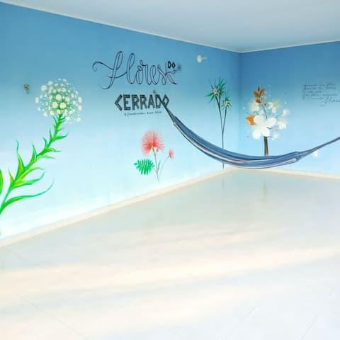 Hostel Flores do Cerrado, quarto compartilhado