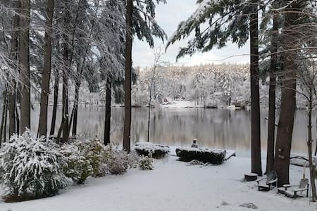 Lakefront Winter Wonderland in New Hampshire - Hollis