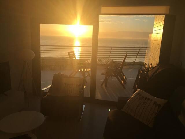 Sunrise from lounge