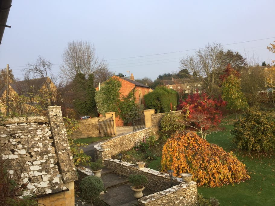 Autumn View of The Old Chapel from the main house