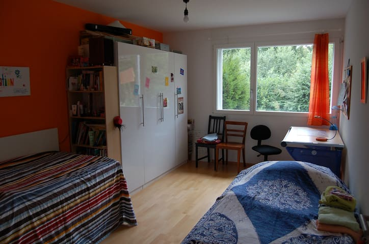 16 m2 room + living room - Wünnewil-Flamatt - Apartmen