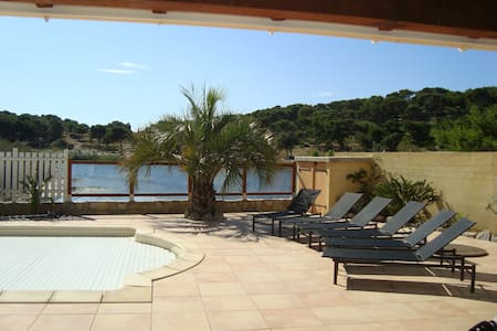 Villa  Gruissan   piscine proche centre et plage - Gruissan