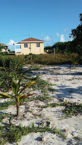 Exuma Pearl outside garden view