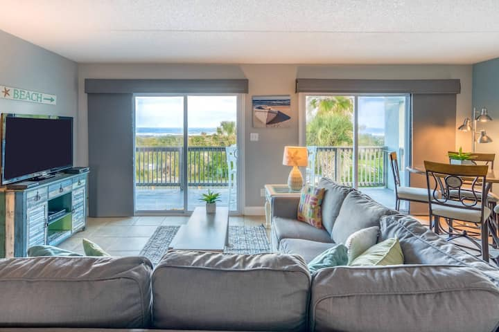 New!! Ocean Views!! Beach House w/Direct Beach Access, Heated Pool, Elevator, .5 mile to boat ramp