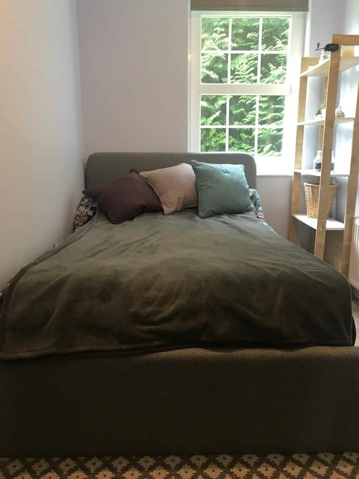 Small double bedroom in city centre (with dog)