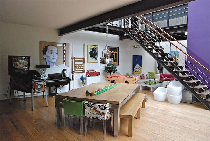 Loft with Patio and Terrasse at 10 mn from Paris