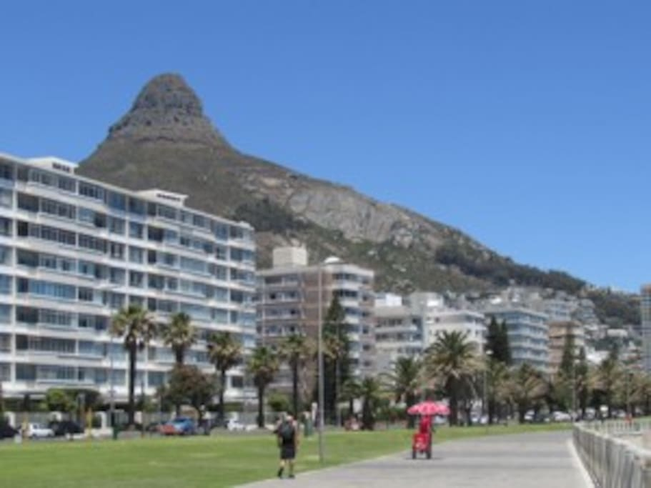 Walking distance from the seapoint promenade.
