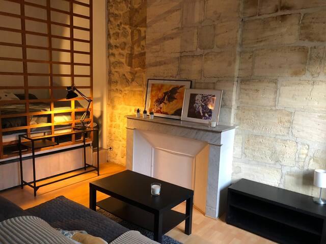 Studio avec couchage séparé
